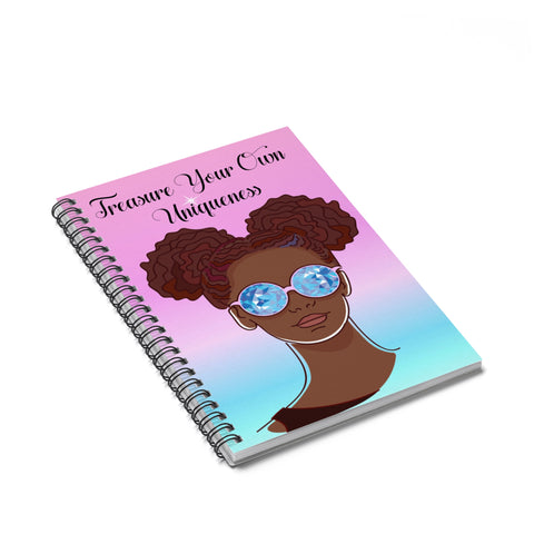 Unique Brown Girl Spiral Notebook - Ruled Line