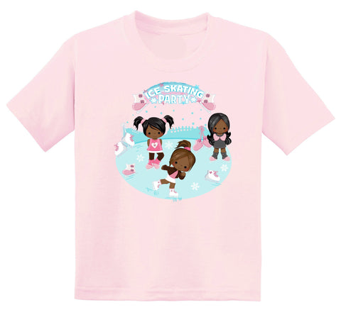 African American Ice Skate Graphic Tshirt