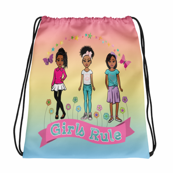 Girls Rule Drawstring bag