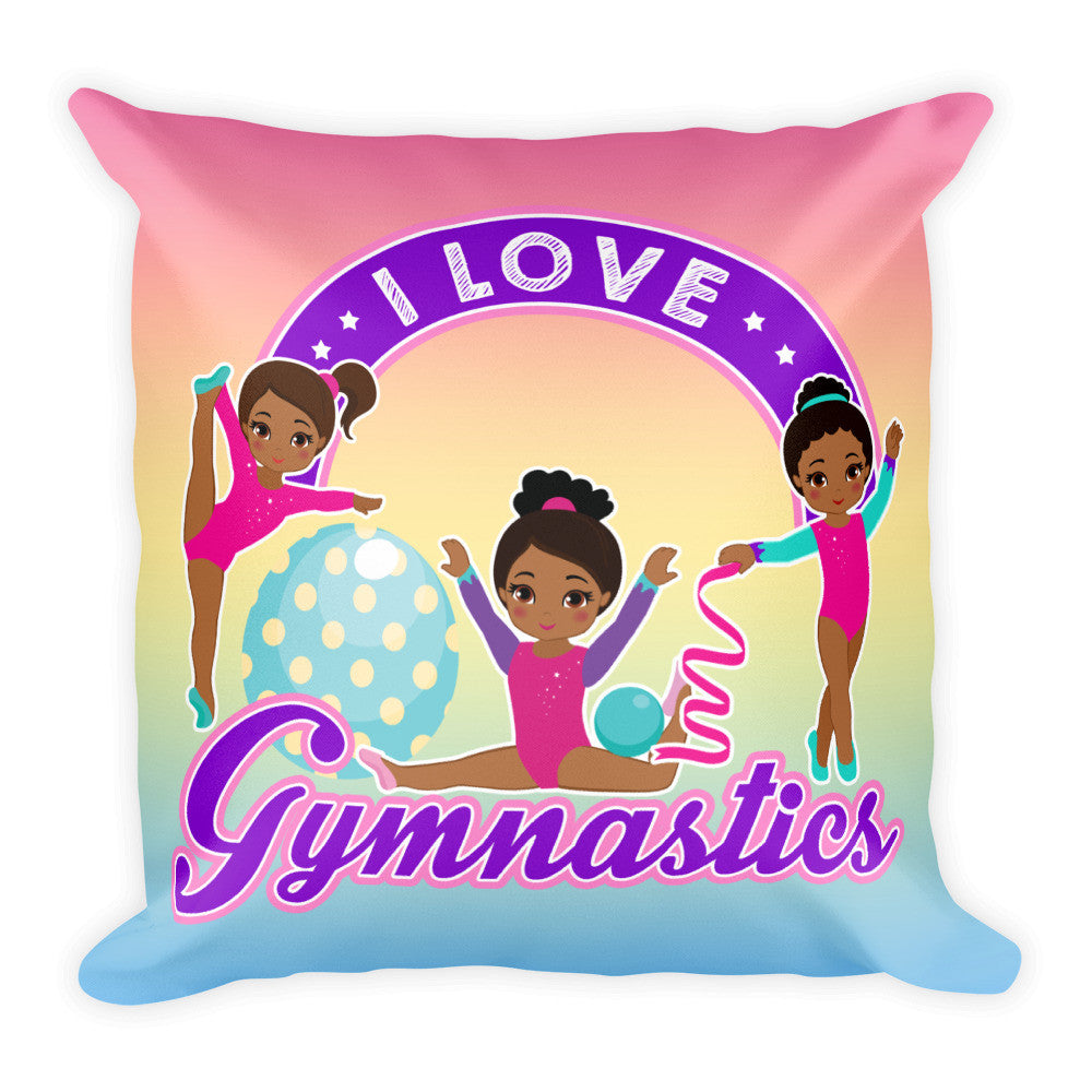 Gymnastics Square Pillow