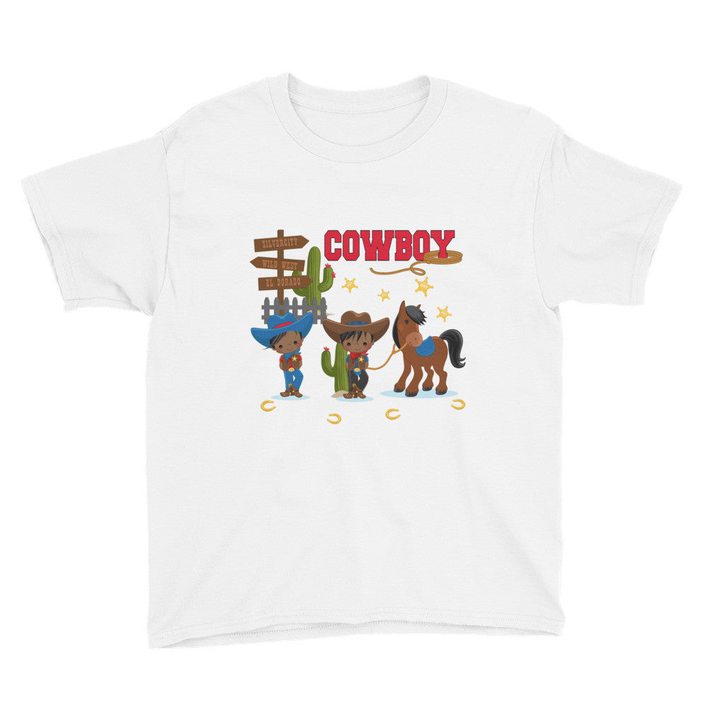 African American Cowboy Youth T-Shirt