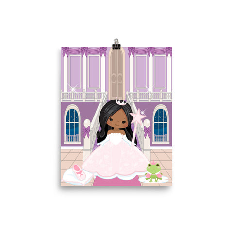 Pretty Brown Princess Poster