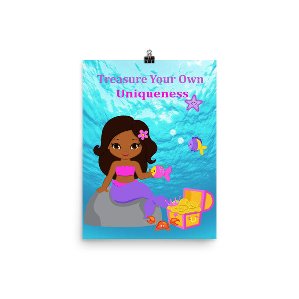 African American Mermaid_Treasure Poster