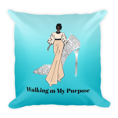 Walking in My Purpose Square Pillow