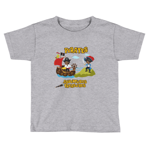 African American Pirate Toddler Short Sleeve T-Shirt