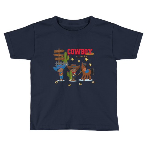 African American Cowboy Toddler Short Sleeve T-Shirt