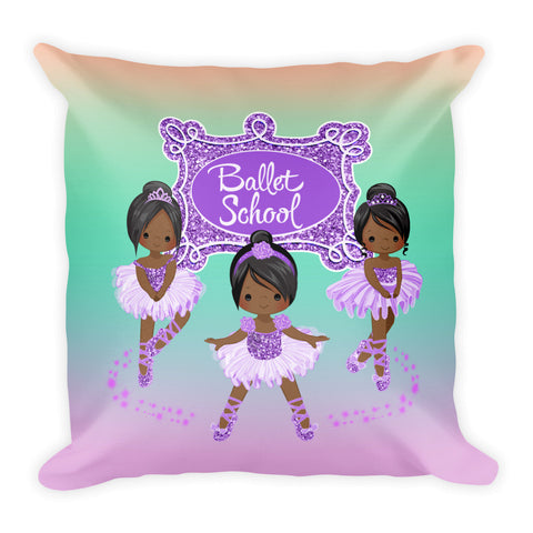 Purple Square Pillow