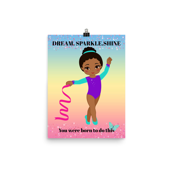 African American Gymnastics Poster