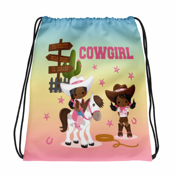 Cowgirl Drawstring bag