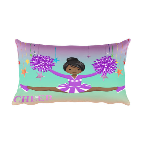 Purple Cheerleader Rectangular Pillow
