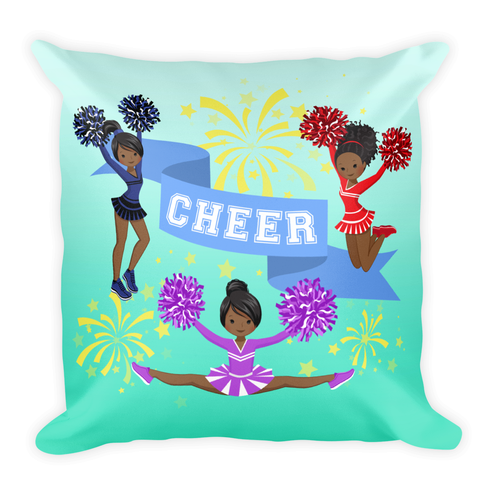 Cheerleader Square Pillow