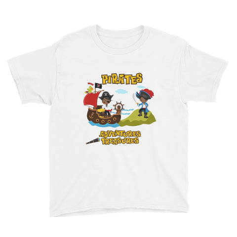 African American Pirate Youth T-Shirt
