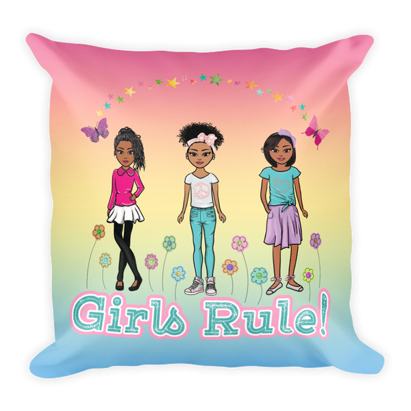 Girls Rule! Square Pillow