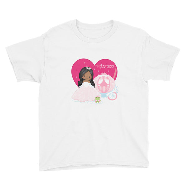 African American Princess Youth Short Sleeve T-Shirt