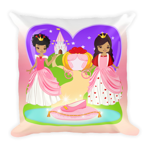 African American Princess Square Pillow