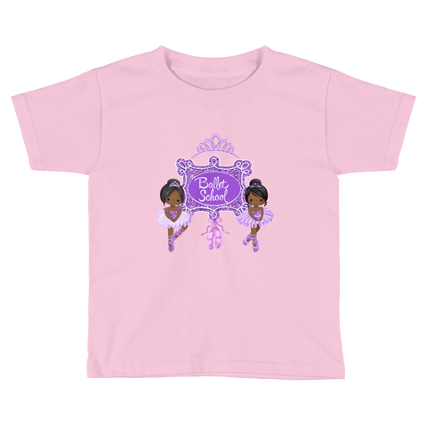 Ballerina Toddler Short Sleeve T-Shirt