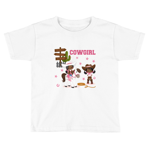 Cowgirl Toddler Short Sleeve T-Shirt
