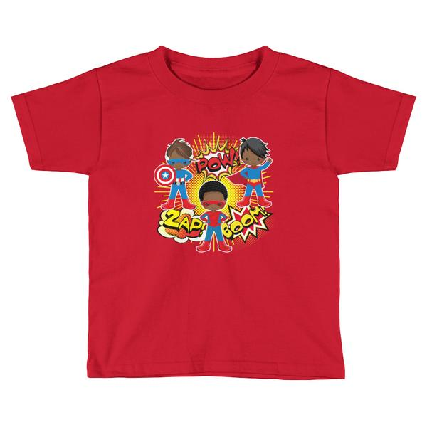 African American Superhero Youth Graphic T-Shirt