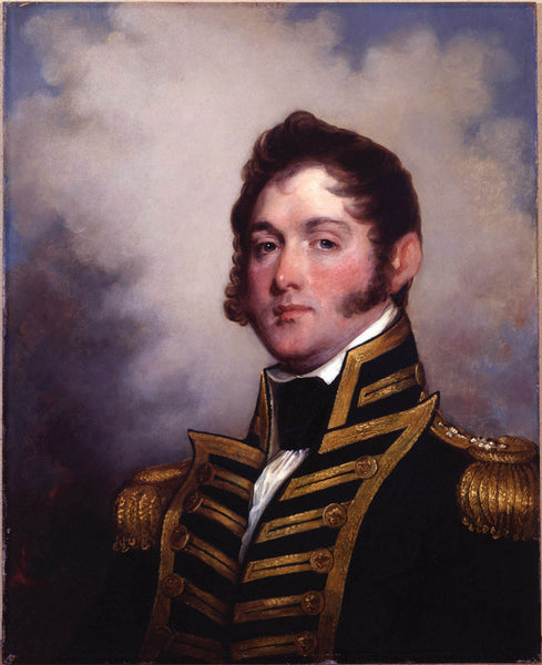 Portrait of Oliver Hazard Perry, painted by Gilbert Stuart, 1818.