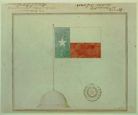 Texas Flag and Seal Design by Peter Krag, approved January 25, 1839