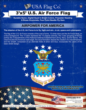 3x5 Air Force Flag