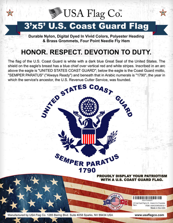 US Coast Guard Flag by USA Flag Co.