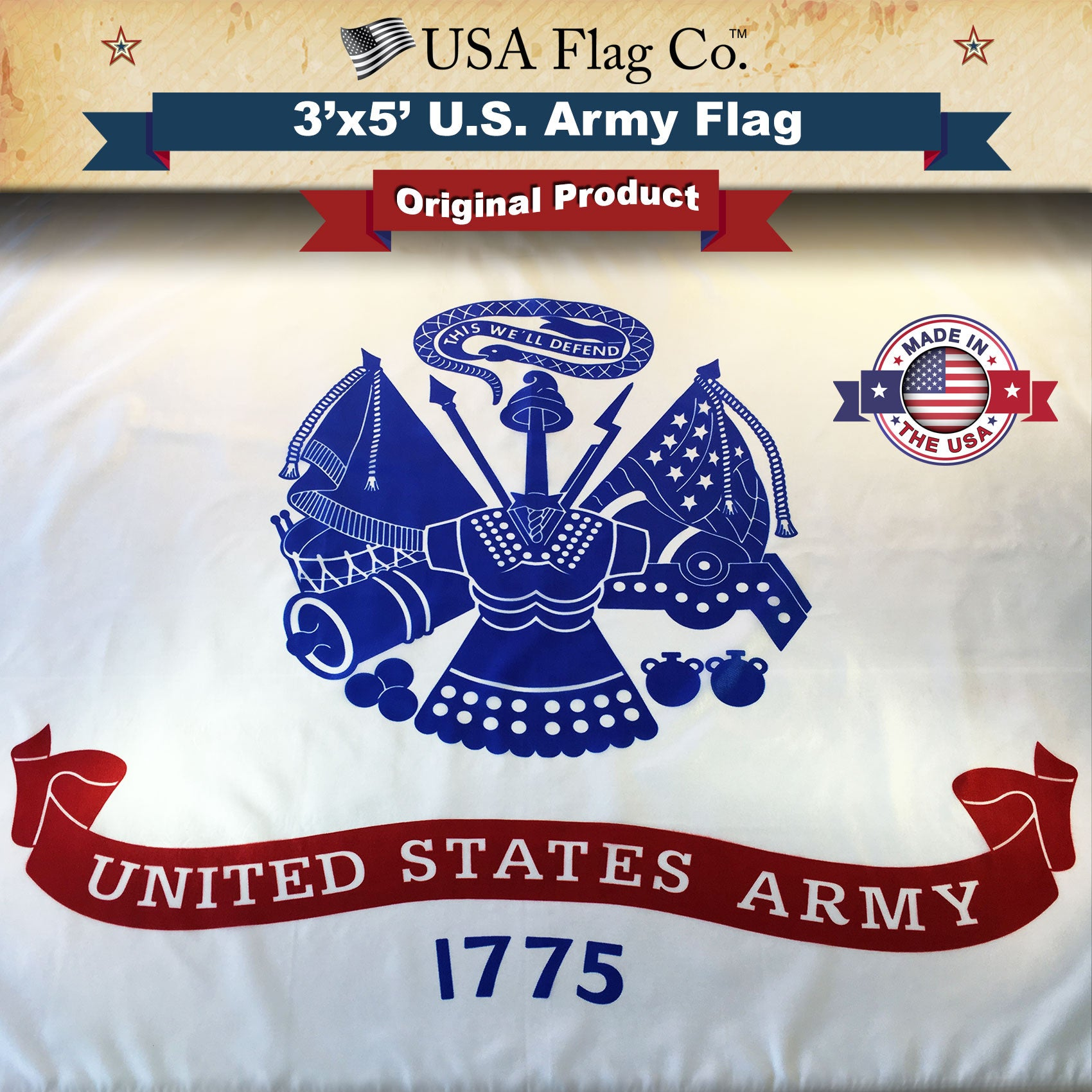 Us army flag 3x5 foot by usa flag co us army flag buycottarizona