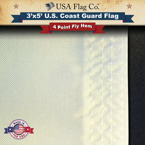 Coast Guard Flag with Four Stitch Fly Hem