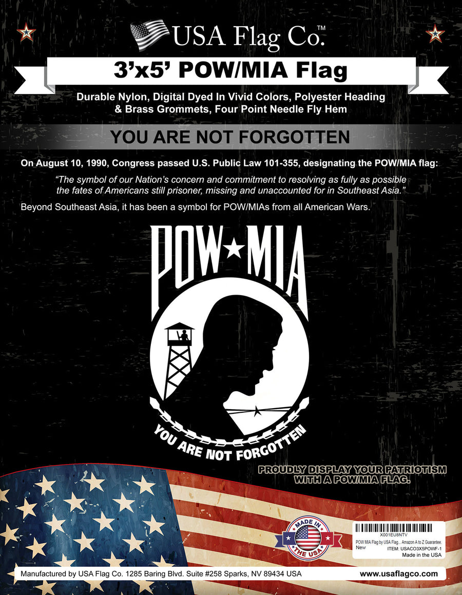 POW MIA Flag by USA Flag Co.