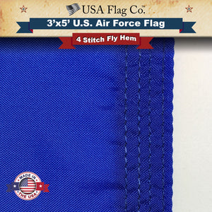 Air Force Flag Four Point Fly Hem