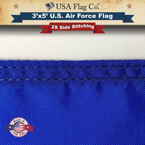Air Force Flag 2X Side Stitching