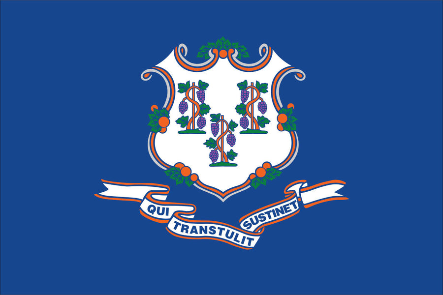 Connecticut Flag by USA Flag Co.