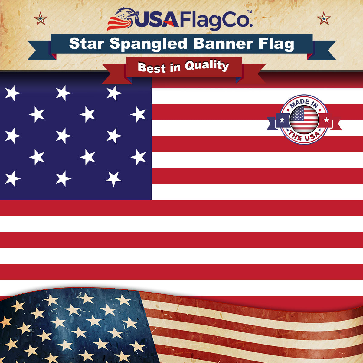 Fort Mchenry Star Spangled Banner Flag Made In Usa By Usa Flag Co