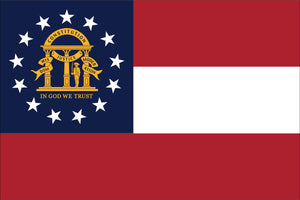 Georgia State Flag by USA Flag Co.