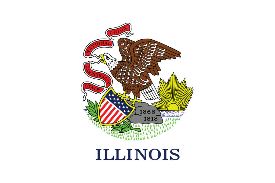 Illinois Flag by USA Flag Co.