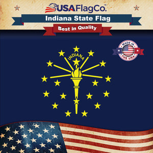 Indiana Flag by USA Flag Co.