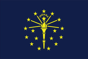 Indiana State Flag by USA Flag Co.
