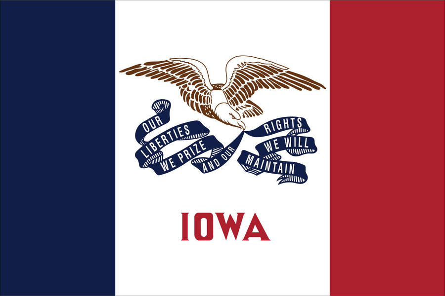 Iowa Flag by USA Flag Co.