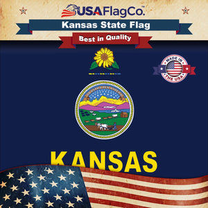 Kansas Flag by USA Flag Co.