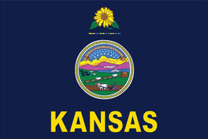 Kansas State Flag by USA Flag Co.
