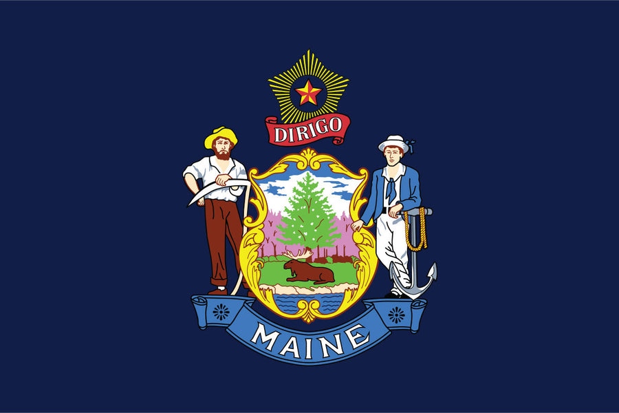 Maine Flag by USA Flag Co.