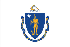 Massachusetts State Flag by USA Flag Co.