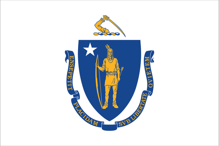 Massachusetts Flag by USA Flag Co.