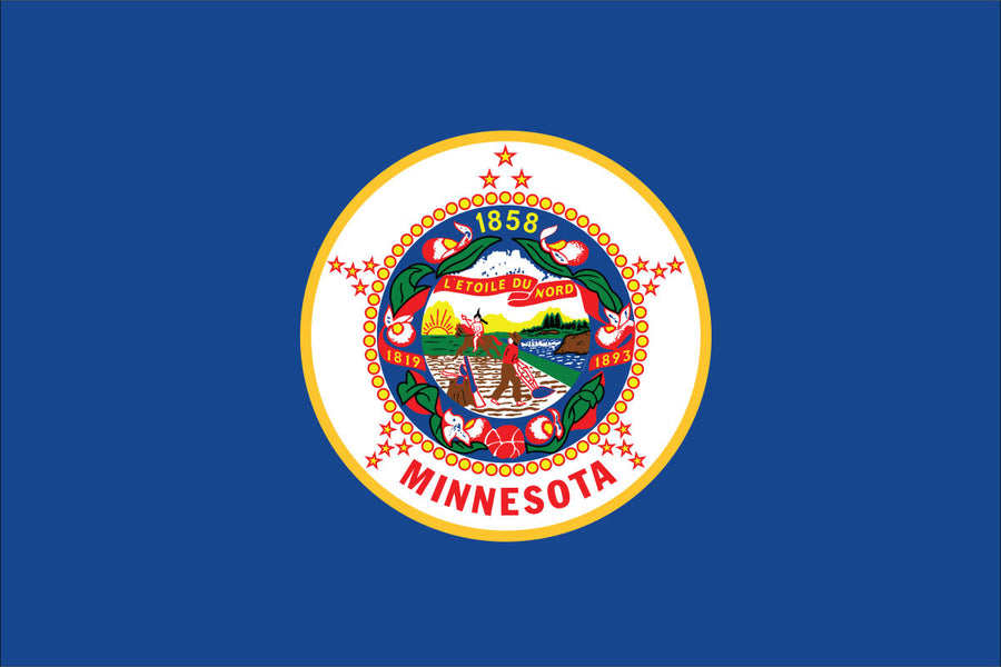 Minnesota Flag by USA Flag Co.