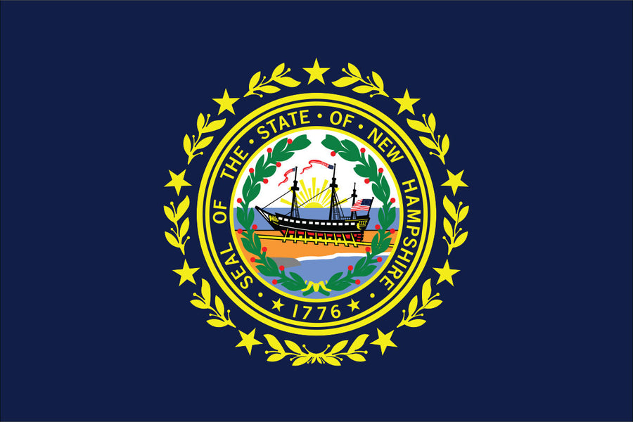 New Hampshire Flag by USA Flag Co.
