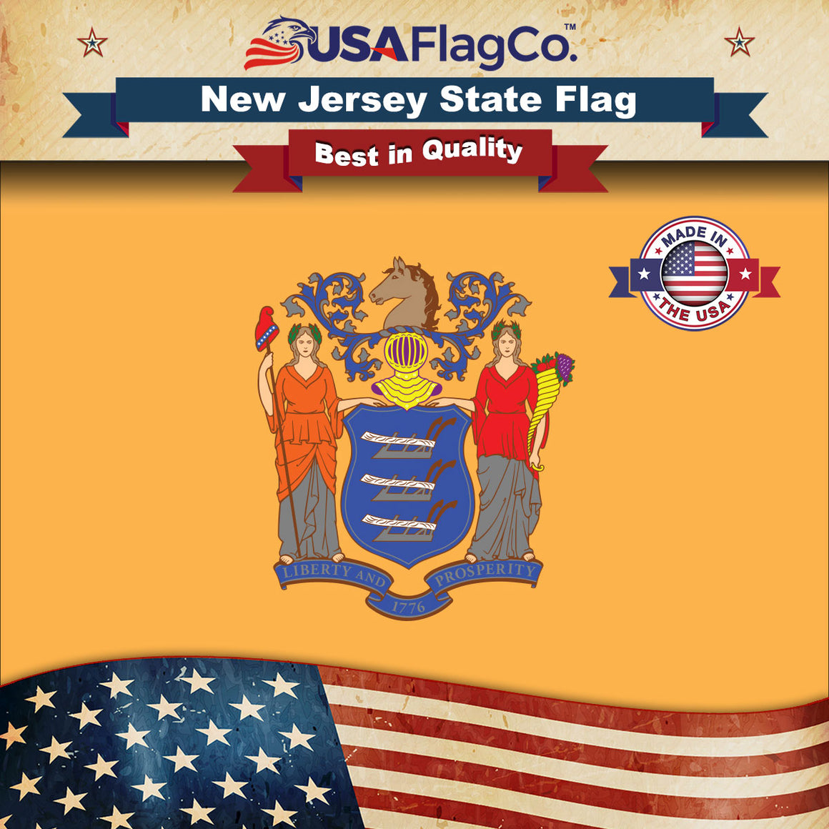 New Jersey Flag by USA Flag Co.