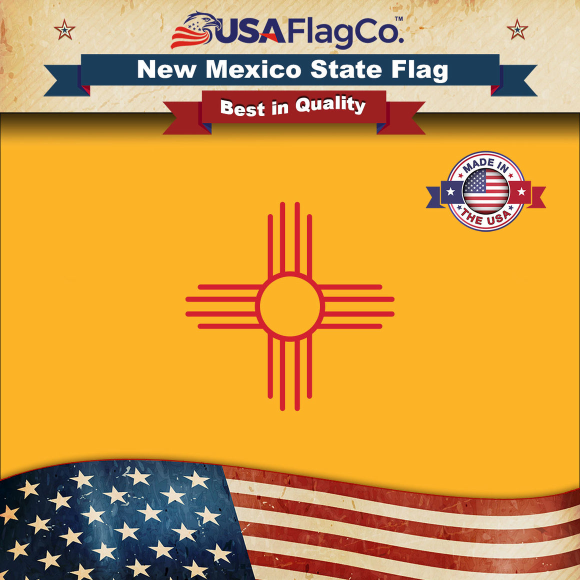 New Mexico Flag by USA Flag Co.