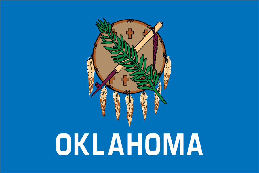 Oklahoma Flag by USA Flag Co.