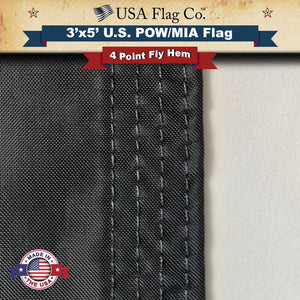 POW MIA Flag Four Point Fly Hem