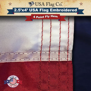 USA Flag: Four Point Needle Fly Hem